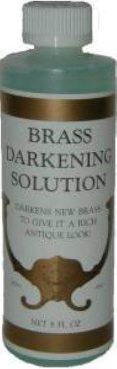 Brass Darkening Solution - 8 oz.  Antique Vintage old dull J-3498
