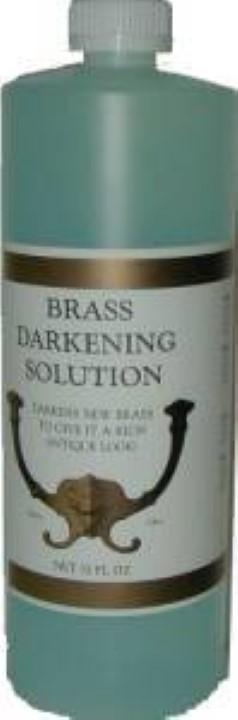 Brass Darkening Solution - 32 oz. antique vintage old dull J-3499
