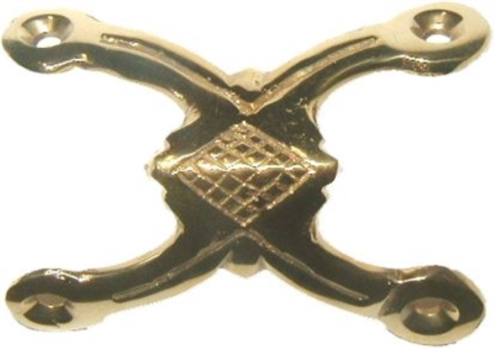 Double Legged Trunk Edge Clamp - Solid Brass B-4532