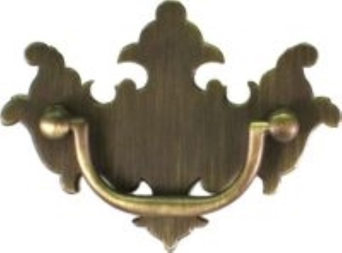 Antique Brass Bail Bat wing Chippendale Style Drawer Pull AB-0665