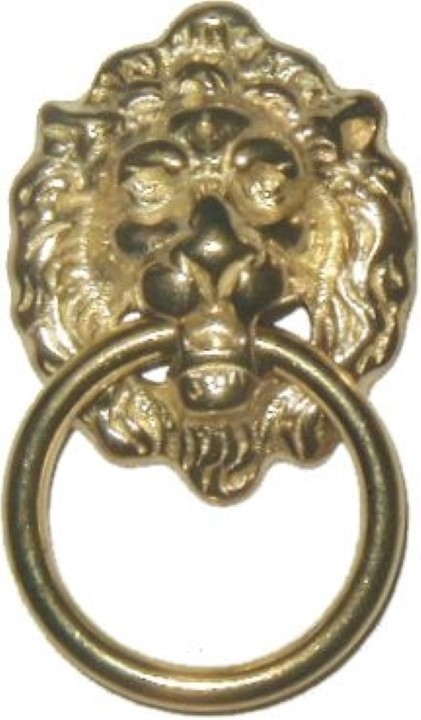 Early American Style Lion Head SINGLE POST RING PULL B-1205