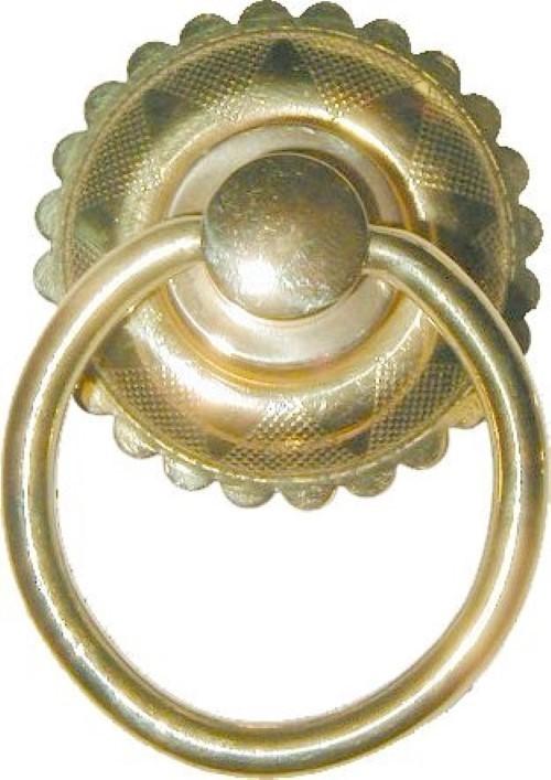Eastlake Victorian Style Brass SINGLE POST RING PULL B-1224