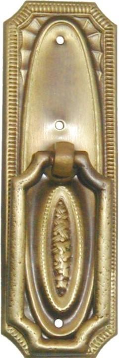 Hepplewhite Pedestal Pull - Basketweave - Antique Brass LS-134