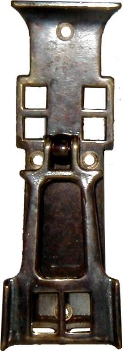 Antiqued Cast Brass Arts & Crafts Single Post Pedestal Pull AB-1275