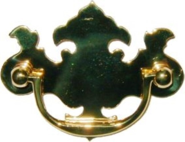 Stamped Brass Openwork Chippendale Style Drawer Pull B-0677