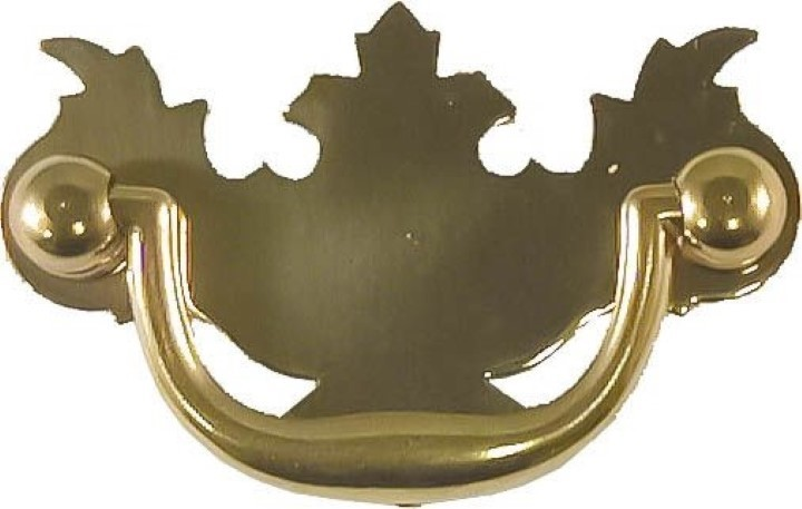 Polished Brass Early American Style Drawer Pull B-0628