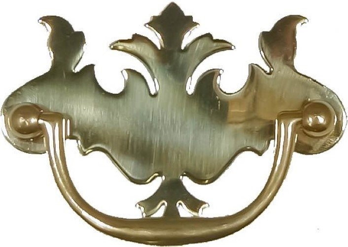 Polished Brass Early American Style Drawer Pull B-0648