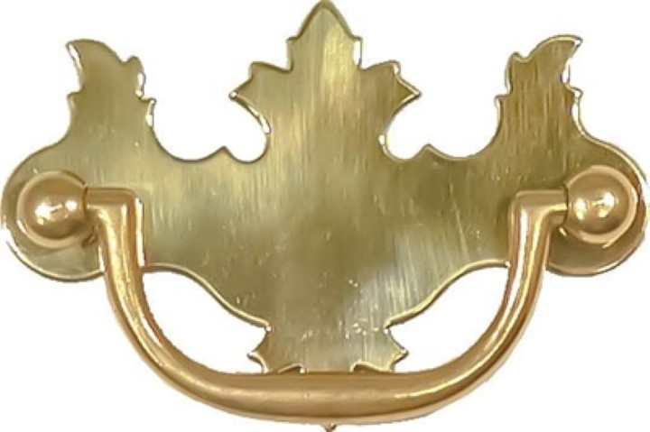 Polished Brass Early American Style Drawer Pull B-0638