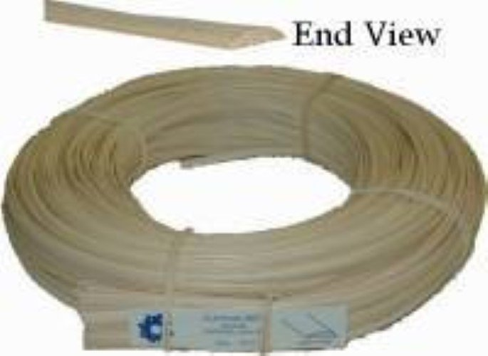 "FLAT OVAL REED SPLINT - Oval Top, Flat Bottom - 3/16""wide R-7611"