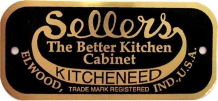 Sellers Nameplate - Hoosier Cabinet antique vintage furniture B-1512