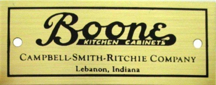 Boone Nameplate - Cabinet hoosier sellers antique vintage furniture B-1524