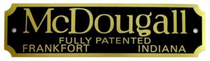 McDougall Nameplate - Cabinet hoosier sellers antique vintage furniture B-1525