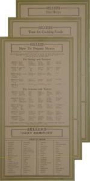 Door Cards - Sellers -  Hoosier cabinet info antique vintage H-1554