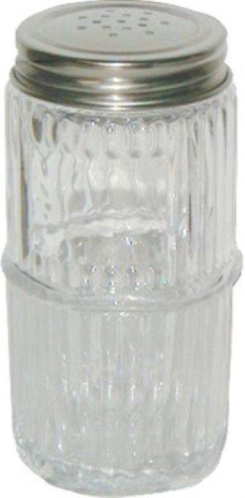 Mission Style Glass Spice Jar with Lid - Hoosier, Sellers cabinet antique vintage rack C-1555