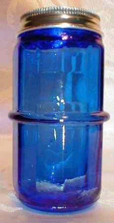 Hoosier Spice Jar - Blue Glass, shaker, rack, limited supply C-1560B
