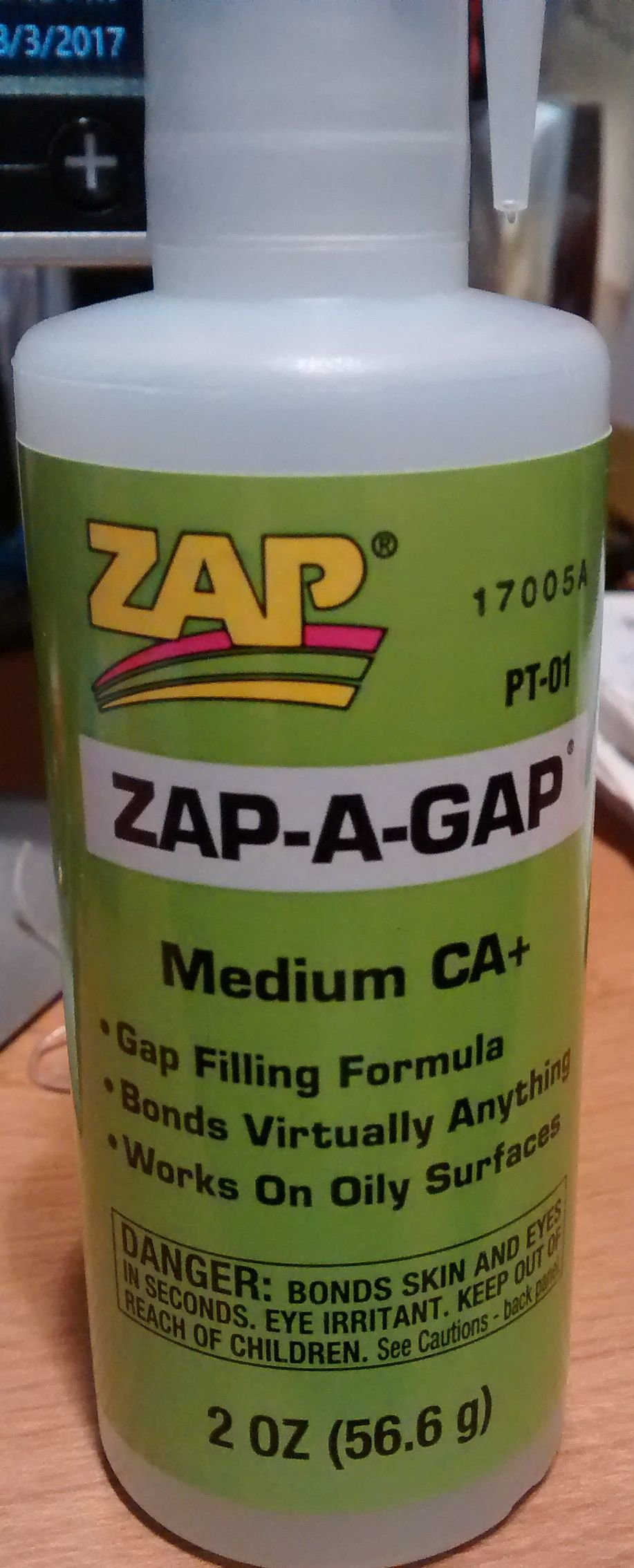 Zap-A-Gap Adhesive - Medium - 2 oz. G-6892
