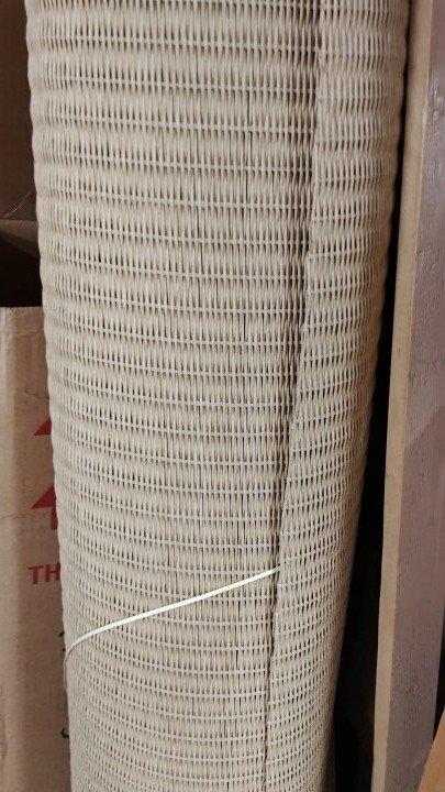 "LLOYD LOOM  40"" wide 1/16ths inch.  Sold by the inch.  art fiber rush wicker"