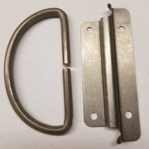 Trunk Chest Handle - Steel Plated Antique Steamer Hand Loop vintage pull wire metal