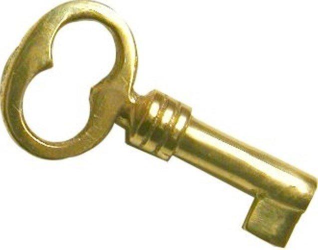 Small Key - Brass Polished Brass Skeleton Antique B-1920