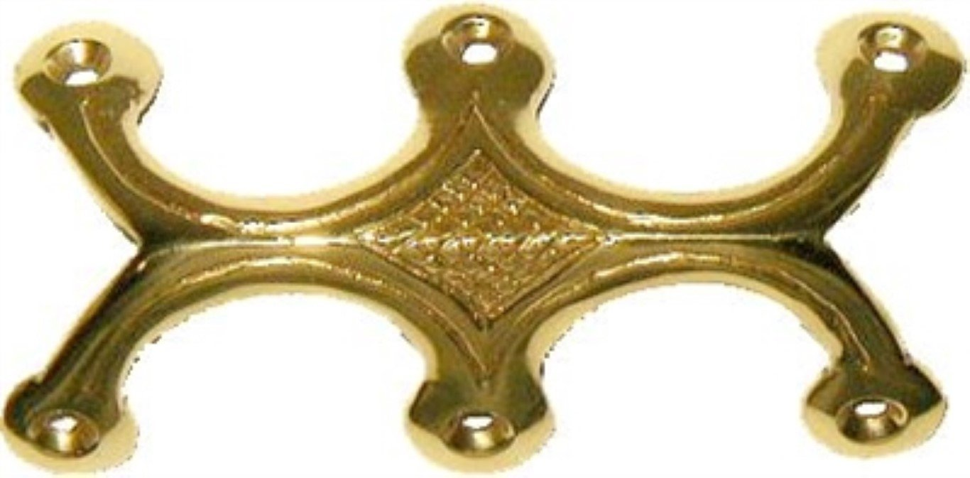 Solid Brass Triple (3) Legged Trunk Edge Clamp antique chest steamer vintage old edge elbow decorative