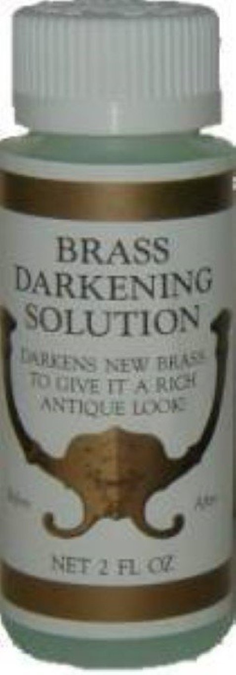 2oz (Ounce) - Brass Darkening Solution antique vintage old dull ager patina copper tin bronze J-3492
