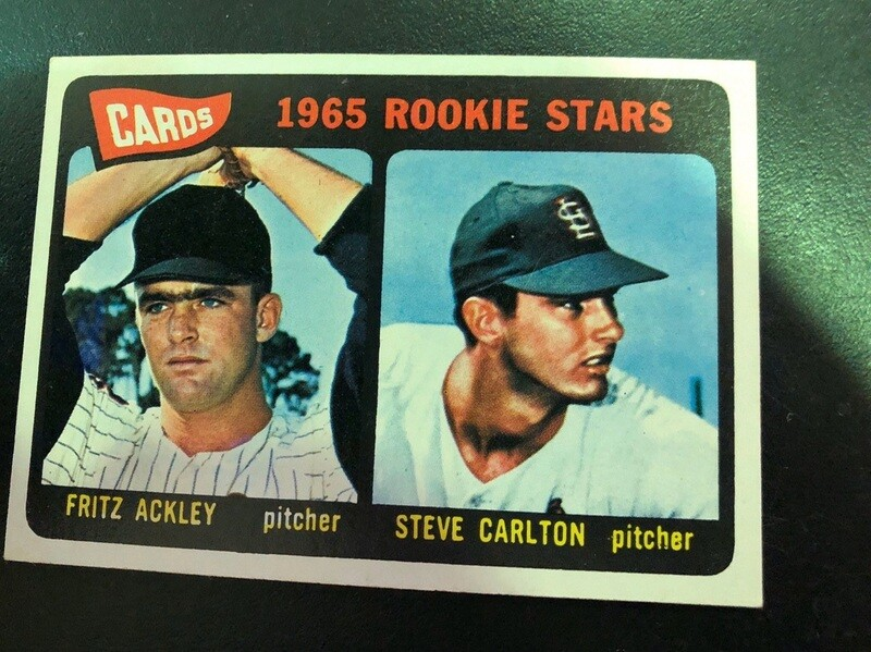 1965 Topps #477 Steve Carlton rookie, $200