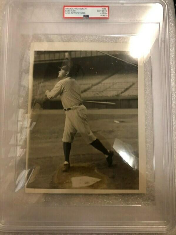 Babe Ruth original Photograph -  PSA Graded