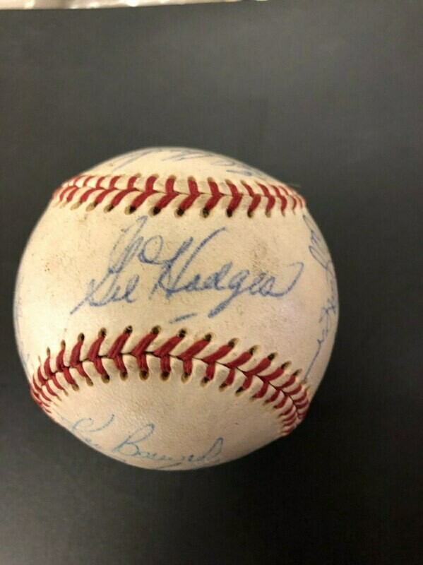 1969 NY Mets Signed Ball 24 Signatures, Gil Hodges JSA