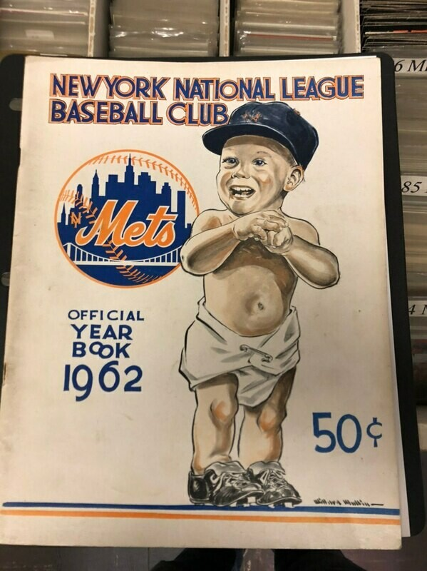 1962 NY Mets Inaugural 1st season Yearbook