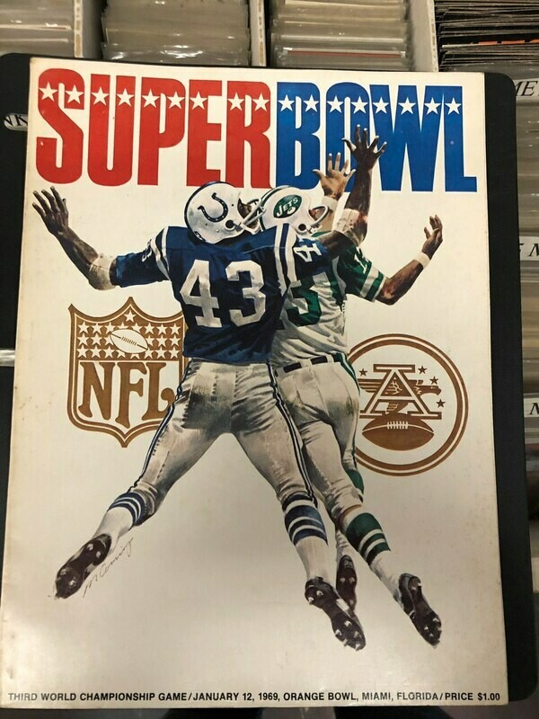 1969 Super Bowl Program NY Jets vs. Baltimore Colts