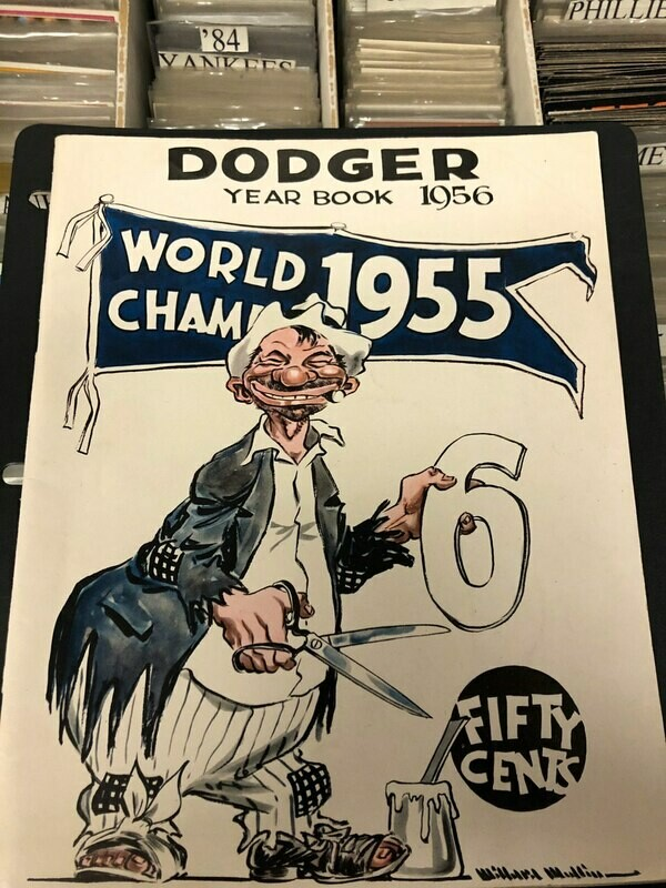 1956 Brooklyn Dodger Yearbook (1955 World Champs on cover)