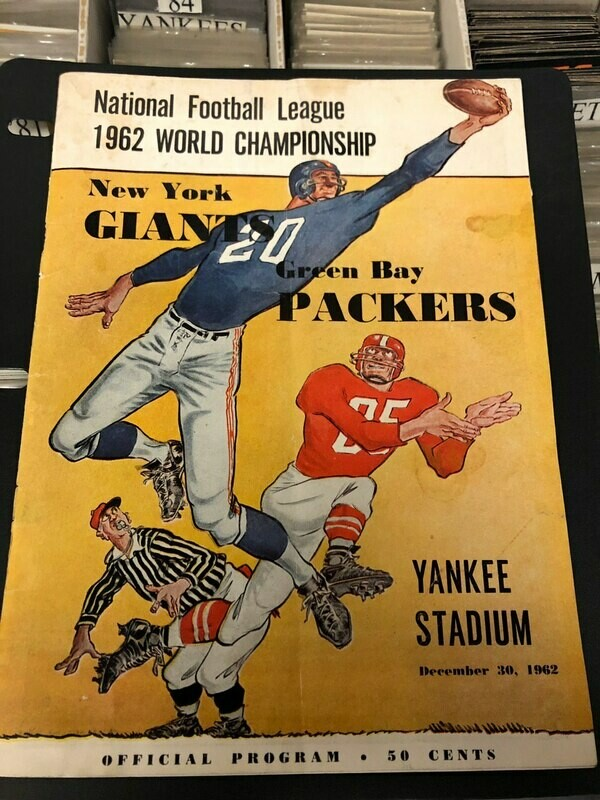 1962 NFL Championship Game Program - NY Giants vs. Green Bay Packers