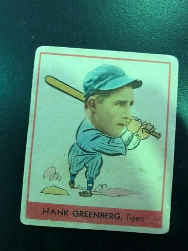 1938 Goudey Heads Up #253 Hank Greenberg