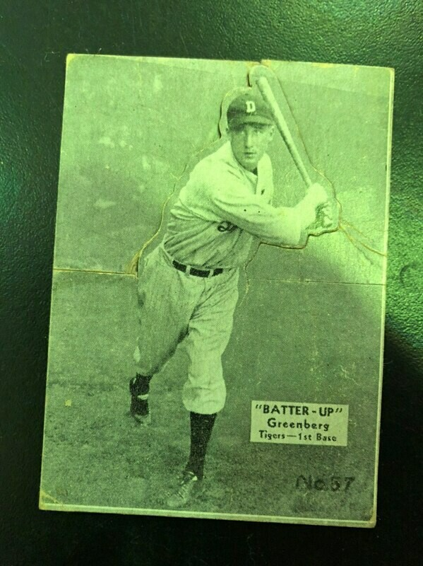 1934 Batter Up #37 Hank Greenberg rookie