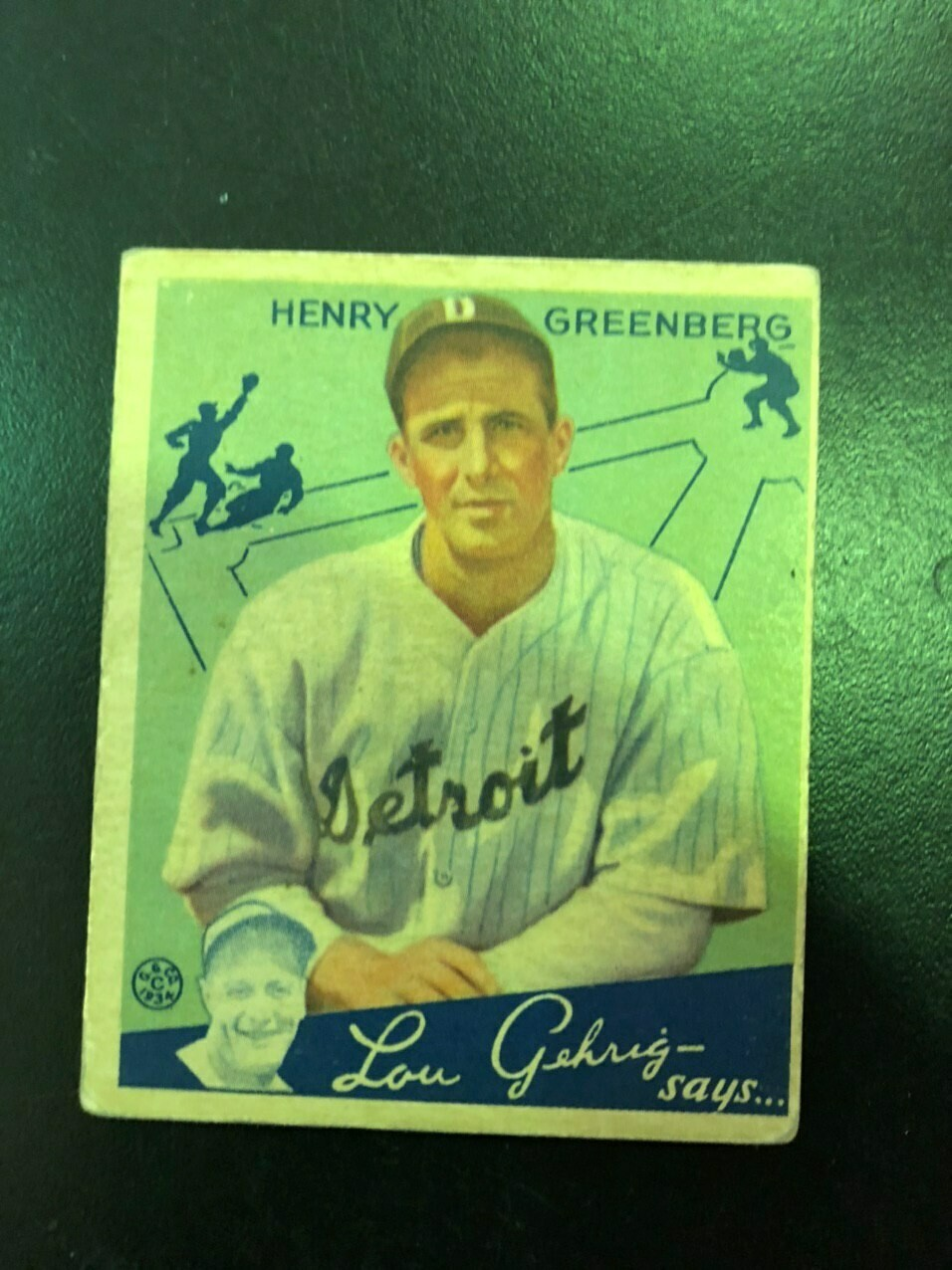 1934 Goudey #62 Hank Greenberg rookie, List $1200, sell $595