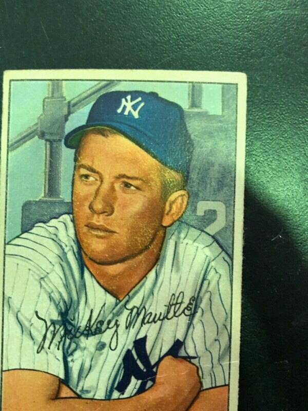 1952 Bowman #101 Mickey Mantle, List $4000, sell $1395