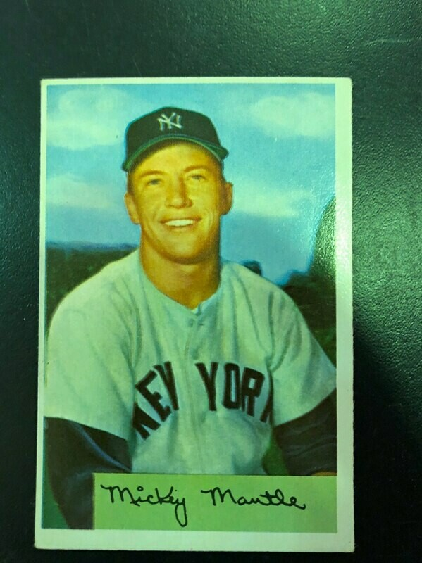 1954 Bowman #65 Mickey Mantle, List $2000, sell $695