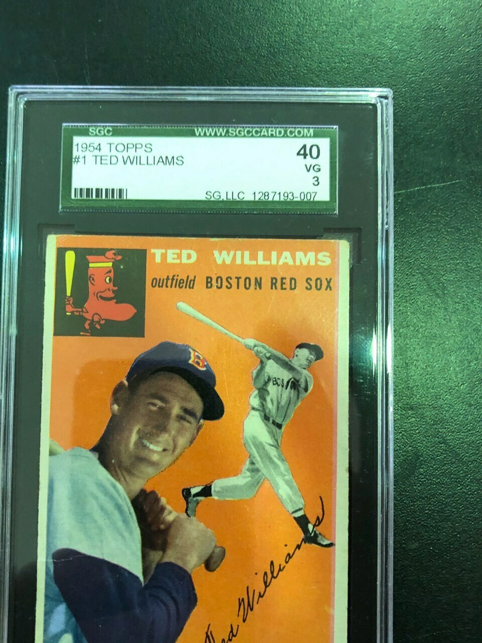 1954 Topps #1 Ted Williams, graded SGC 3, $295