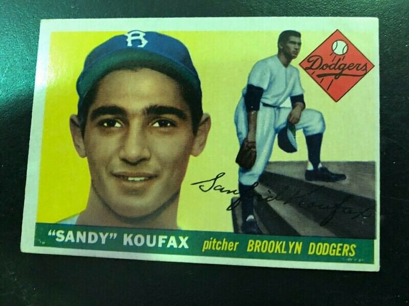 1955 Topps #123 Sandy Koufax rookie List $1500, sell $695