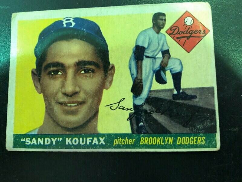 1955 Topps #123 Sandy Koufax, List $1500, sell $395