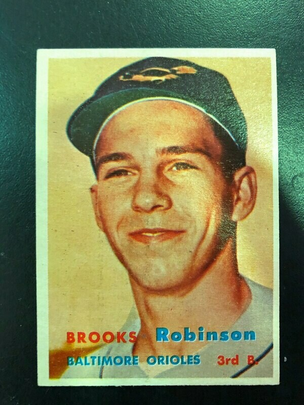 1957 Topps #328 Brooks Robinson rookie