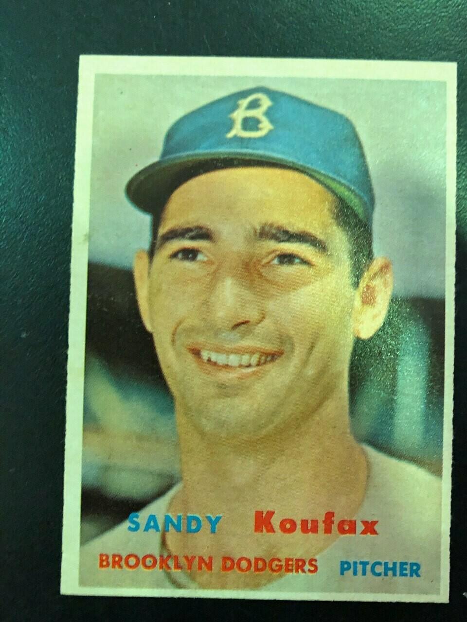 1957 Topps #302 Sandy Koufax, List $300, sell $295