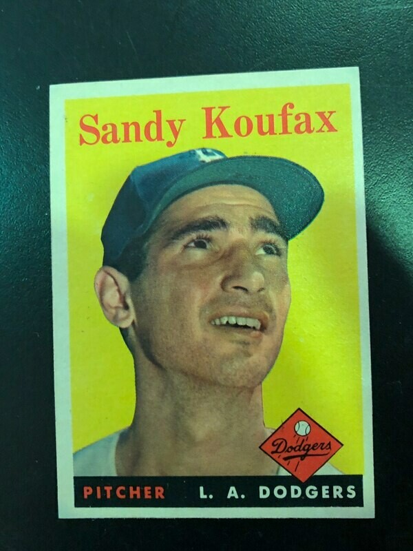 1958 Topps #187 Sandy Koufax, List $200, Sell $180