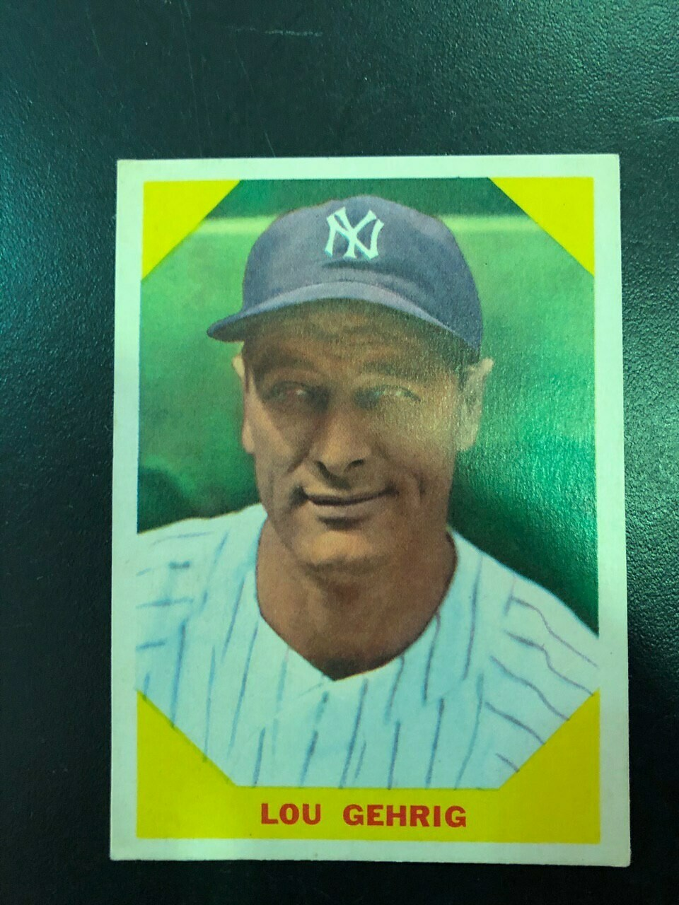 1960 Fleer #28 Lou Gehrig, List $60, Sell $55