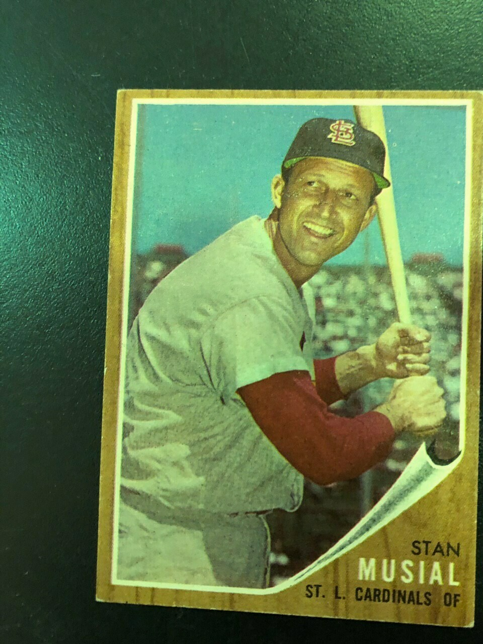 1962 Topps #50 Stan Musial, $80