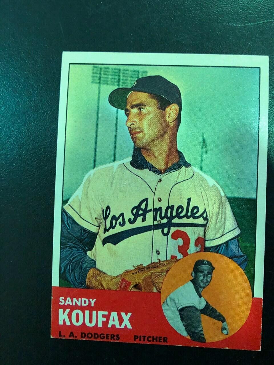 1963 Topps #210 Sandy Koufax, List $150, Sell $135