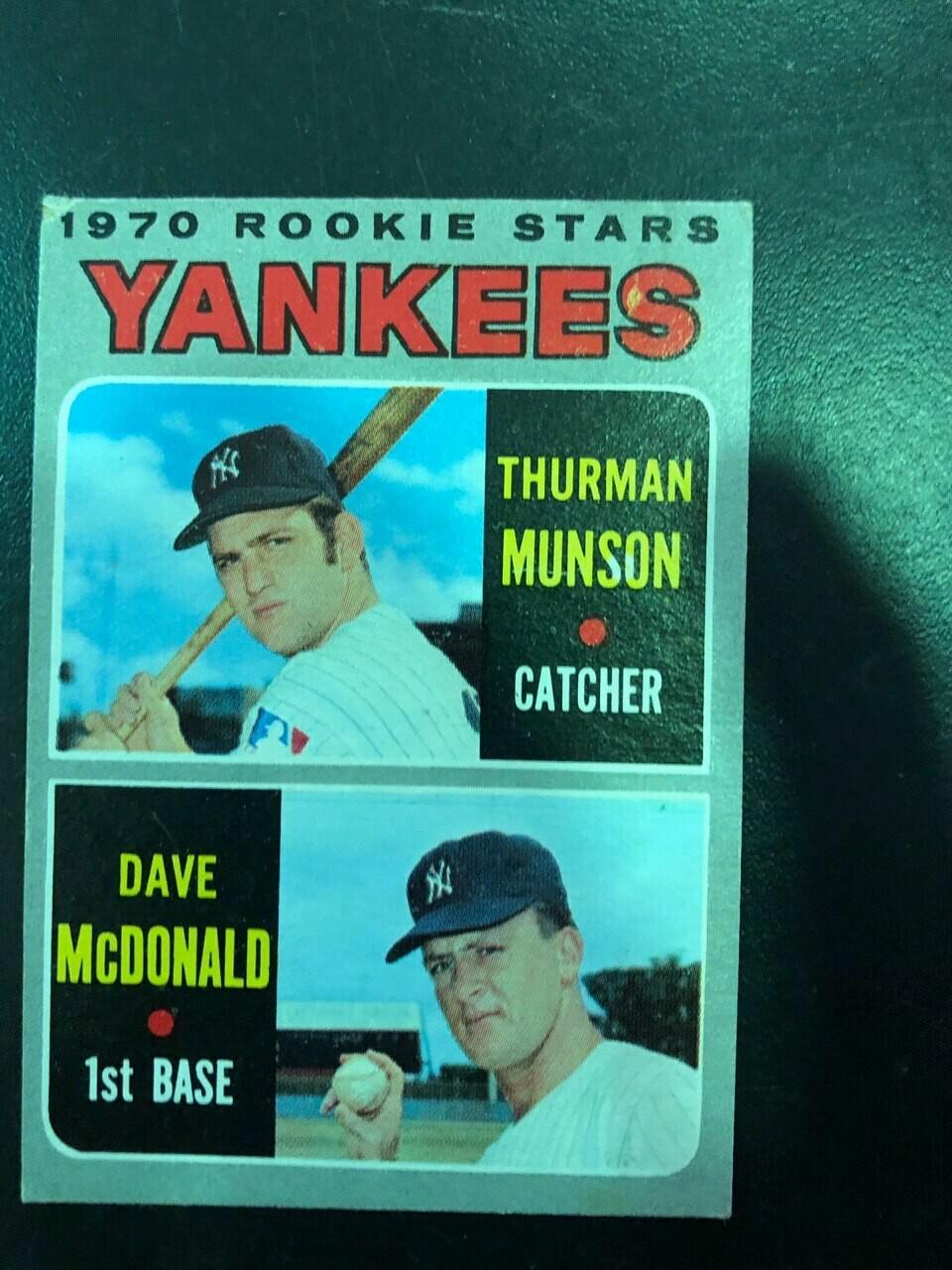 1970 Topps #189 Thurman Munson rookie, List $100, Sell $50
