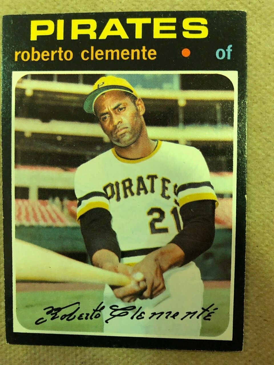 1971 Topps #630 Roberto Clemente, List $200, Sell $150