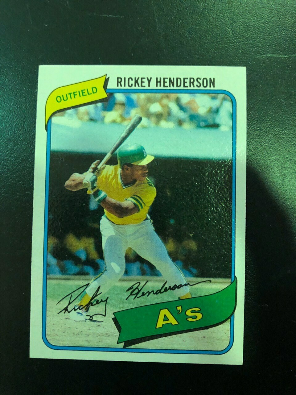 1980 Topps #482 Ricky Henderson rookie, $80