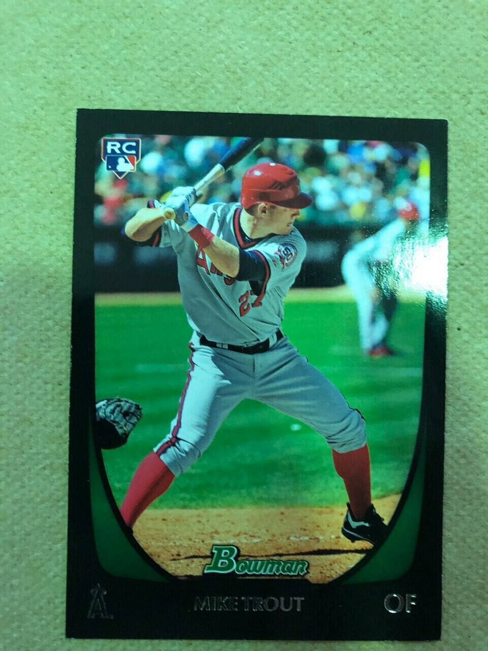 2011 Bowman Mike Trout rookie, $150